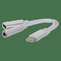 FAST ASIA audio adapter-konverter USB C na USB C + 3.5mm (m/ž-ž) (Beli),  USB-C - muški, USB C + 3.5mm - ženski