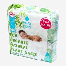 Pure Born pelene 1 Newborn Jumbo 0-4,5kg 68kom