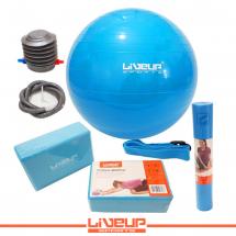LiveUp Joga set - plavi - LS3243