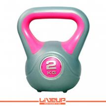LiveUp Kettlebell (Rusko zvono) - 2 kg, plastični - LS2047