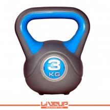 LiveUp Kettlebell (Rusko zvono) - 3 kg, plastični - LS2047