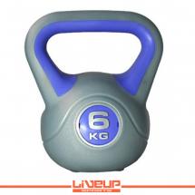 LiveUp Kettlebell (Rusko zvono) - 6 kg, plastični - LS2047