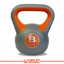 LiveUp Kettlebell (Rusko zvono) - 8 kg, plastični - LS2047