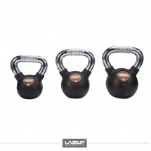 LiveUp Kettlebell (Rusko zvono) - 8 kg, gumirani - LS2044