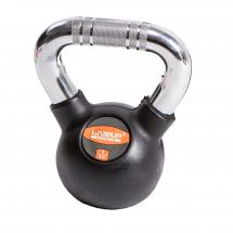 LiveUp Kettlebell (Rusko zvono) - 4 kg, gumirani - LS2044