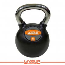 LiveUp Kettlebell (Rusko zvono) - 12 kg, gumirani - LS2044