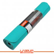 LiveUp Prostirka za vežbanje - gumirana, plava - LS3237