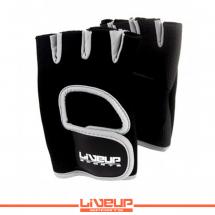LiveUp Rukavice za fitnes i teret., crno-plava -S/M - LS3077