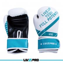 LivePro Bokserske rukavice za sparing 12 oz, bele - LP8600