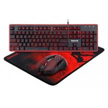 Komplet 3u1 miš, podloga,  tastatura USB US Redragon S107, backlight