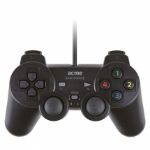 JoyPad USB ACME GA07 A163581 dvostruka vibracija, Crna