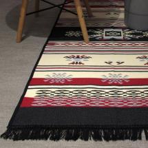 Tepih Dekor Dom Stella 60x90cm, crveno/crna