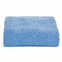 Prekrivač Dekor Dom Zig Zag 145x200cm, plava