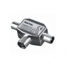 HAMA RF antenski spliter (1in-2out) ž/m (Srebrni) - 00122469,  RF (antenski) - muški, RF (antenski) - ženski, ž/m, Srebrna