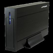 """LC-Power HDD Rack 3.5"""", USB 3.0, SATA (Black) - LC-35U3-Sirius  3.5"""", SATA I / II / III, USB 3.0, Aluminijum, plastika"""