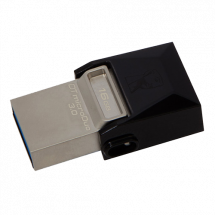 KINGSTON 16GB DataTraveler microDuo 3.0 - DTDUO3/16GB  USB 3.0 / microUSB, 16GB, do 70 MB/s, do 10 MB/s