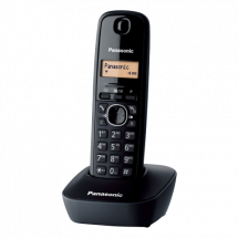 PANASONIC DECT KX-TG1611FXH  Bežični telefon, Crna