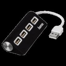 HAMA USB hub USB 2.0 1:4 - 12177  4 x USB-A 2.0, USB 2.0 - A , Crna