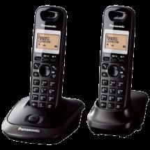 PANASONIC DECT KX-TG2512FXT Duo  Bežični telefon, Crna