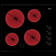 WHIRLPOOL Ugradna ploča AKM 9010/NE  Crna, Staklokeramička, Mehaničko (Prekidač)