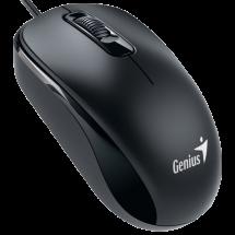 GENIUS žični miš DX-110 (Crni) - 31010116100  Optički, 1000dpi, Simetričan (pogodan za obe ruke), Crna