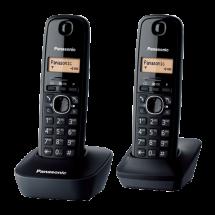 PANASONIC DECT KX-TG1612FXH Duo  Bežični telefon, Crna