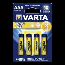 VARTA Longlife  Alkalna baterija, AAA (LR3), 4/1