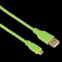 HAMA Micro USB kabl, Flexi-Slim DS, 0.75m (Zeleni) - 00135702  USB 2.0 - do 480 Mbps, USB-A, Micro USB-B, Okrugli