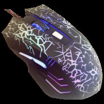 JETION gejmerski miš (Crni) - JT-DMS056  Optički, 3200dpi, Ergonomski dizajniran, Crna
