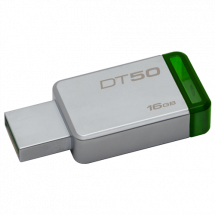 KINGSTON 16GB USB 3.1 DataTraveler 50 - DT50/16GB  USB 3.1, 16GB, do 30 MB/s, do 5 MB/s