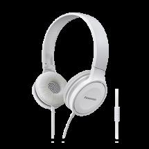 PANASONIC slušalice sa mikrofonom (Bele) - RP-HF100ME-W  Naglavne, Stereo, 30mm, Neodimijum