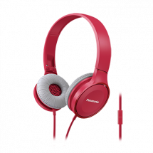 PANASONIC slušalice sa mikrofonom (Crvena) - RP-HF100ME-R  Naglavne, Stereo, 30mm, Neodimijum