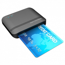 JAVTEC Smart Card čitač JAV-SCR08  Smart card čitač, Crna, Plastika/Aluminijum
