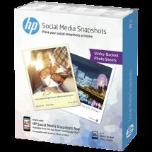 HP papir Social Media Snapshots Removable Sticky Photo - W2G60A  10 x 13 cm, 25 listova, 265 g/m²