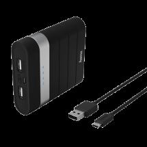 HAMA Joy Power bank / eksterna baterija - 137493  10400 mAh, 1 x Micro USB, 2 x USB A, Li-Ion, Crna