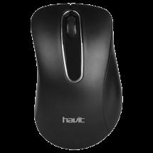 HAVIT žični miš HV-MS706 (Crni)  Optički, 1000dpi, Ergonomski dizajniran, Crna