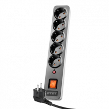 ACAR X5 naponski produžni kabl 5 utičnica 1.5m (Crna)  5 utičnica