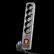 ACAR X5 naponski produžni kabl 5 utičnica 3m (Crna)  5 utičnica