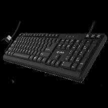 CLICK bežična tastatura K-L2-W US (Crna)  EN (US), USB nano prijemnik