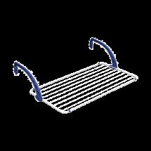 TEXELL sušilica za veš Balcony TCD-B167 (Bela/Plava)  Bela/Plava