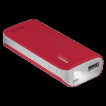 TRUST Primo Power bank / eksterna baterija - 21226  4400 mAh, 1 x Micro USB, 1 x USB A, Li-Ion, Crvena