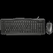 TRUST Žična tastatura i miš CLASSICLINE WIRED (Crna)  USB, Membranski tasteri, EN (US), 1,8 m