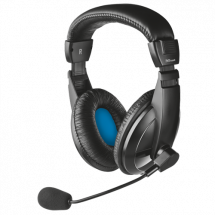 TRUST slušalice sa mikrofonom QUASAR (Crne) - 21661  3.5mm (četvoropolni) + adapter 2x 3.5mm, 20Hz - 20KHz, 108dB, 1.8m
