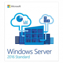 MICROSOFT Windows Server 2016 Standard 64bit English DSP OEI DVD 16 Core - P73-07113  Windows Server 2016 Standard, OEM