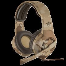 TRUST gejmerske slušalice GXT 310D RADIUS (Maskirne - Desert Camo) - 22208  Stereo, 40mm, 20Hz - 20kHz, 108dB