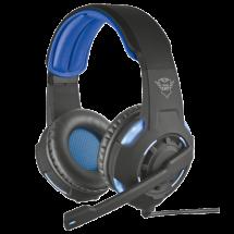 TRUST gejmerske slušalice GXT 350 RADIUS 7.1 (Crne/plava) - 22052  Virtual 7.1, 40mm, Na ručici