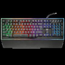 TRUST gejmerska tastatura GXT 860 THURA (Crna) - 21839  Membranski tasteri, 104, 16