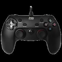 MS INDUSTRIAL gamepad CONSOLE 2IN1 PRO (Crni)  Osmosmerni kursor, USB, PlayStation