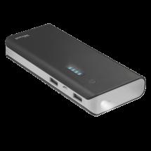 TRUST Power bank / eksterna baterija - 21149  10000 mAh, 1 x Micro USB, 2 x USB A, Li-Ion, Crna/Siva