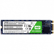 WD SSD Green 120GB, M.2 2280, SATAIII - WDS120G2G0B  120GB, M.2 2280, SATA III, do 545 MB/s